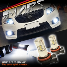 2x MARS Performance H8 Torch Projector LED SMD White Fog Light bulbs For Holden Cruze