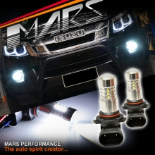 2x MARS Performance High Power Projector LED SMD White Fog Light Bulbs for ISUZU D-MAX 7 MU-X 12-17