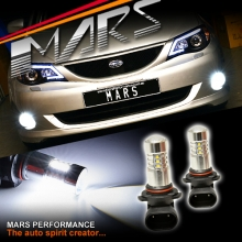 MARS Projector Super Bright LED SMD Bumper Bar Driving Fog Lights Bulbs for Subaru 5GEN Liberty OutBack & Impreza 07-13