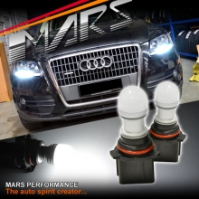 2x MARS Performance P13W 3D LED SMD White DRL / Parker bulbs for AUDI Q5 A4 B8