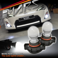 2x MARS Performance PSX24W Torch Projector LED SMD White Fog Light bulbs for 86 GTS & Subaru BRZ