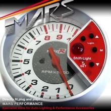 TYPE-R 3.75 inch 375L2 Color-Adjustable Tachometer with Gauge Shift light!