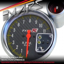 TYPE-R 5 inch 500C Carbon Tachometer with Gauge Shift light