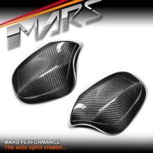 Real Carbon Replacement Fibre Mirror Cap Covers for BMW E90 Sedan & E91 Wagon LCI 09-11
