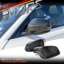MARS Real Carbon Fibre Mirror Cover for BMW E81 E82 E87 E88 LCI MY10-MY11