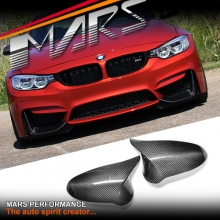 RHD Real Carbon Fibre Mirror Covers for BMW M-Series M3 F80 & M4 F82 F83