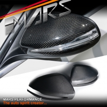 Real Carbon Fibre Mirror Cover for Mercedes-Benz C-Class W205 C205 S205 & E-Class W213 RHD