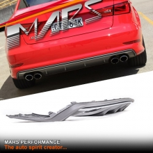 S3 Style Twin Exhaust outlet Diffuser for AUDI A3 8V Sedan & Convertible Pre update 13-16 S3 & S-Line Bumper bar