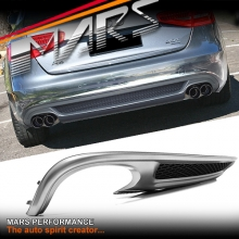 S-Line Style Rear Bumper bar Diffuser with Twin Exhaust outlet for AUDI A4 B8 12-15 Sedan