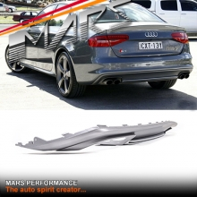 S4 Style Twin Exhaust outlet Diffuser for AUDI A4 B8 12-15 Sedan S4 & S-line Rear Bumper bar