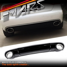 RS4 Style Rear Bumper bar Diffuser with Exhaust Tips for AUDI A4 B8 08-11 Sedan