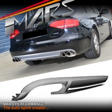 S4 Style Twin Exhaust outlet Diffuser for AUDI A4 B8 09-11 Sedan Standard Rear Bumper bar