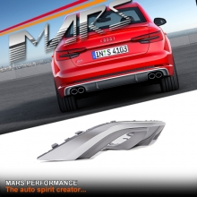 S4 Style Twin Exhaust outlet Diffuser with honeycomb mesh stripe for AUDI A4 B9 Sedan Standard Rear Bumper bar