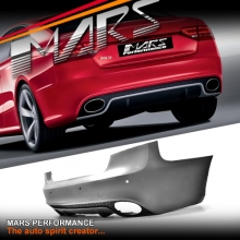 RS5 Style Rear Bumper Bar with Twin exhaust Tips for AUDI A5 8T 2 doors Coupe