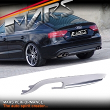 S5 Style Rear Bumper bar Diffuser with Twin Exhaust outlet for AUDI A5 8T 4 doors Sedan 08-12
