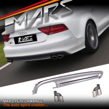 S7 Style Rear Bumper bar Diffuser with Twin Exhaust Tips for AUDI A7 4G MY10-MY14
