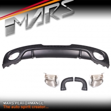 RS-TT Style Rear Bumper Bar Diffuser with Exhaust Tips for AUDI TT 8J MY06-MY14 Coupe & Convertible