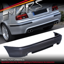 M5 style Rear Bumper Bar for BMW E39 Sedan with Twin Exhaust outlet