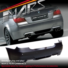 M5 style Rear Bumper Bar for BMW E60 03-07 Sedan with Twin Exhaust Outlet