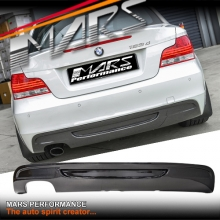 Real Carbon Fiber Rear Bumper Bar Diffuser for BMW E82 E88 Coupe Single Outlet