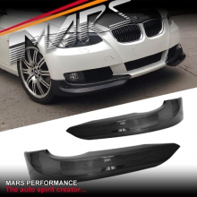 Carbon Fibre Front Bumper Splitter Lips Spoiler for E92 coupe & E93 convertible 06-09 Pre LCI