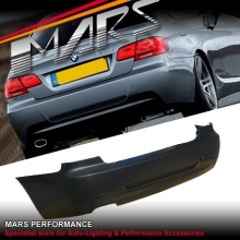 M Tech M Sports style Rear bumper bar for BMW E92 Coupe with Single Exhaust Outlet