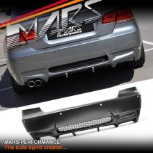 M3 Style Rear Bumper Bar for BMW 3 Series E92 Coupe 06-12 with Single Exhaust outlet