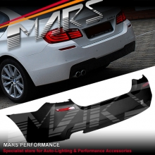 BMW F10 M Tech Sports Style Rear Bumper with Single Exhaust Outlet for 520i 528i 520d