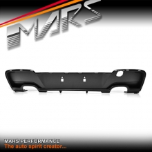 Performance Style Rear Bumper bar Diffuser with Twin Exhaust outlet for BMW 1-Series F20 Hatch Pre LCI 11-15