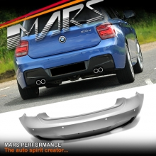 M135i M Tech Sports Style Rear Twin Exhaust Outlet Bumper Bar for BMW 1 Series F20 Pre LCI