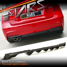 BMW Performance style Rear bumper bar Single Exhaust outlet Diffuser for BMW F30 M Tech M Sports