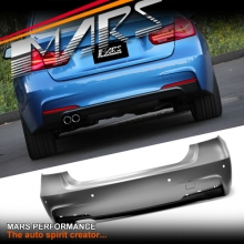 BMW 3-Series F30 Sedan M Tech Sports Rear Bumper Bar with Single Exhaust Outlet