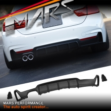 BMW 4 Series F32 F33 F36 M Performance Style ABS Plastic Rear Bumper bar Diffuser lip with Single Exhaust outlet