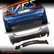 BMW M Tech Sports Style Rear Bumper bar with single exhaust outlet for 4 Series M Sport F32 Coupe