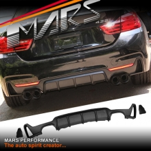 BMW 4 Series F32 F33 F36 M Performance Style ABS Plastic Rear Bumper bar diffuser lip with Twin exhaust outlet