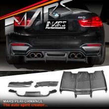 PSM Style Carbon Fiber Rear Bumper Bar Diffuser for BMW F80 M3 & F82 F83 M4