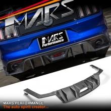 MARS Carbon Fibre Rear Bumper Bar Diffuser Spoiler Cover for Ford Mustang FM 2015-2017