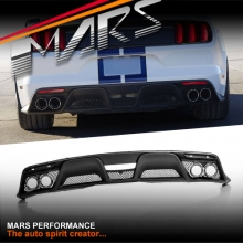 Shelby GT350 Style Rear Bumper Bar Diffuser with Exhaust Tips for Ford Mustang FM 2015-2017
