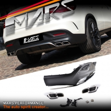 AMG GLE63 Style Rear Bumper bar Diffuser with Exhaust Tips for Mercedes-Benz GLE Class Coupe, C292 W292