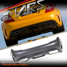 AMG C63 Black Series Style Rear Bumper Bar for Mercedes-Benz C-Class W204 07-14