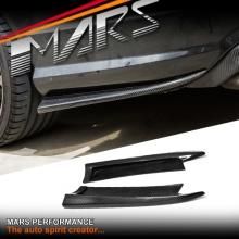 MARS Carbon Fibre Rear Bumper Side lip Splitters for Mercedes Benz W204 C63 AMG 08-11