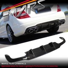 Real Carbon Fiber Rear Bumper Bar Diffuser for Mercedes Benz AMG C63 W204 11-14