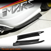 MARS Carbon Fibre Rear Bumper Side lip Splitters for Mercedes Benz W204 C204 C63 AMG 11-14