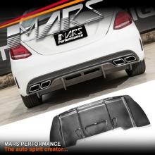 PSM Style Carbon Fibre Rear Bumper Bar Diffuser Cover for Mercedes Benz W205 C63 AMG Sedan