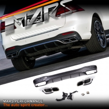 AMG GLE63 Style Rear Bumper bar Diffuser with Exhaust Tips for Mercedes-Benz GLE Class W166 Hatch