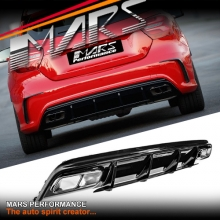 AMG A45 Update Style Rear Bumper bar Diffuser with Exhaust Tips for Mercedes-Benz A Class W176