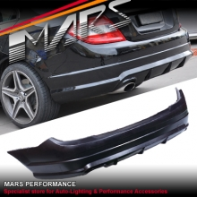 AMG C63 Style Single Exhaust outlet Rear Bumper Bar for Mercedes-Benz C-Class W204 Sedan 07-10