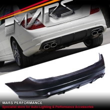 AMG C63 Style Rear Bumper Bar for Mercedes-Benz C-Class W204 Sedan 07-10 With Twin Exhaust