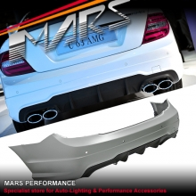 AMG C63 Style Twin Exhaust outlet Rear Bumper Bar for Mercedes-Benz C-Class C204 Coupe & W204 Sedan MY11-MY14