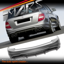 AMG C63 Style Rear Bumper Bar for Mercedes-Benz C-Class W204 Wagon With Twin Exhaust